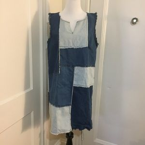 NWOT Anthro Nanette Lenore Patched Denim Shift